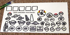 SAFECRACKER Pinball Machine Insert Decals LICENSED