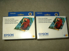 2 new Genuine Epson T041020 Color Ink Cartridges expired 3/2014 & 12/2014 t041