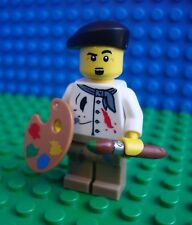 Lego Painter Artist minifig City Town French Arts 8804 Minifigures Series 4