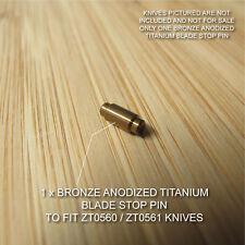 Zero Tolerance ZT0560 561 ZT Knife Anodized Titanium Blade Stop Pin - BRONZE