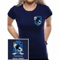 Ladies Harry Potter Hogwarts Ravenclaw House Fitted T-Shirt - Womens Blue Tee