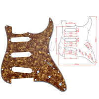1Pcs Cinnamon Pearl Electric Guitar Pickguard 3 Ply 11 Hole SSS For Fender Strat