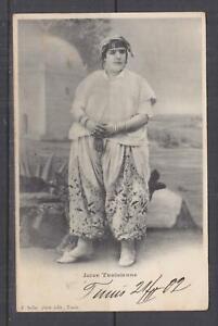 TUNISIA, 1902 ppc. Jewish Girl, 5c. Tunis to Austria.