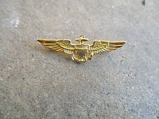 Korea War 1950 USMC US Marine Corps pilot dress mess Wing Pin RARE Gemsco