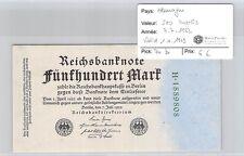 BILLET ALLEMAGNE - 500 MARKS - 7.7.1922 - VALID 1.4.1923 *