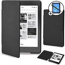 Forefront Cases Black Smart Case Cover Kobo Aura Edition 2 Screen Prot Stylus