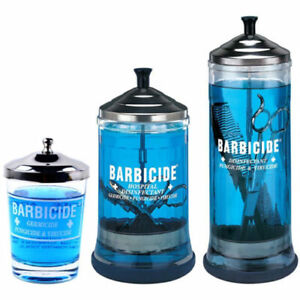 Barbicide Disinfecting Jars For Solution  Salon Barber  Hospital Safety hygiene