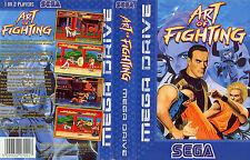 Arte de la lucha contra Sega Mega Drive PAL Caja De sustitución Cubierta Estuche De Arte insertar escanear