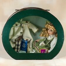 """Collectible Memories """"Emma"""" Porcelain Girl Doll In Suitcase With Accessories"""