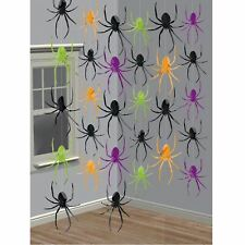 6 x HALLOWEEN RAGNO cordicelle LAMINA pendente TENDINE DECORAZIONI FESTA UK