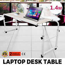 1.4m Over Bed Trolley Laptop Desk Home Display Hospital Patient Table Adjustable