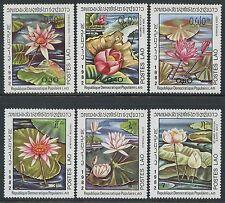 LAOS N°388/393** Fleurs, Nénuphars TB, 1982 Flowers, Water Lilies SC#367-372 MNH