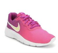 Girl's Nike Tanjun Print (GS) Hyper Violet Pink Running Shoes AV8858 500 Size 7Y