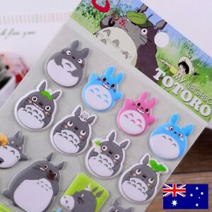 Totoro 3D Stickers, Japanese Cartoon, Stationery, Scrapbooking *SYDNEY Stock*