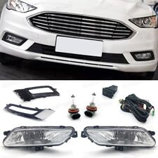Fog Lights Driving Lamps Cover Grille Switch Set for Ford Fusion Sedan 2017-2018