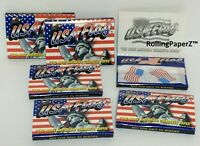 ONE PACK Collectible USA Flag Cigarette Rolling Papers 33 leaves 1 1/2 size