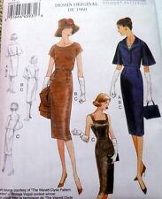 1960s VOGUE VINTAGE MODEL DRESS & JACKET SEWING PATTERN 6-8-10-12-14 UC