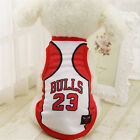 Chicago Bulls 23 Dog Pet Vest Puppy T Shirt Dog Clothes Sportswear soccer jersey