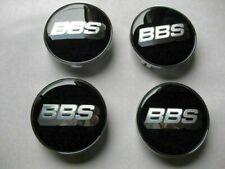 4pcs 68mm Black Silver Alloy Wheel Center Caps Emblems Badges Rim Hub Caps Bbs