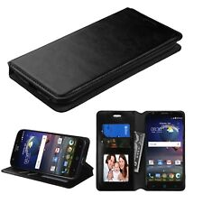 BLACK Leather Pouch Wallet Case Phone Cover Stand For Samsung Galaxy S7 Plus
