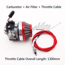 Carb Carburetor Air Filter Throttle Cable For 80cc Motorized Bicycle Push Bike