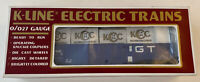 "* K-Line O-27 Trains  ""GTW - KCC Gondola w/ Crates #90005"" w/ Box #K90005IC"