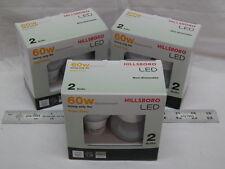 Six LED Bulb Bright White 4000K 9w (60w replacement)Light Cool 60 watt Free Ship