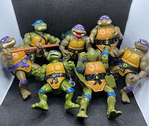 VINTAGE 1988-1991 TMNT - Teenage Mutant Ninja Turtles  Lot of 7 Action figures
