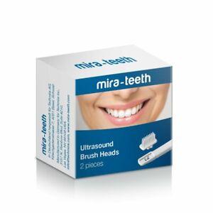 Mira-Teeth Replacement Single Brush Heads 2 Pack