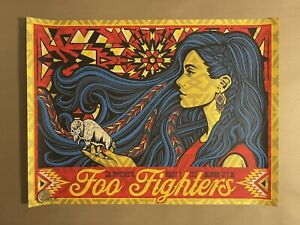 Todd Slater FOO FIGHTERS OKLAHOMA CITY AP Signed and Numbered Poster Print #/92