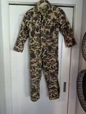 Made in USA Cabela's Hunting Camo Insulated Coveralls Youth Size 12