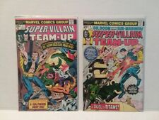 SUPER-VILLAIN TEAM - UP #2 AND #4 - FREE SHIPPING IN U.S.A. & CANADA!