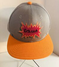 Pink Dolphin Gray Orange And Pink Leather Adjustable Snapback Hat RARE