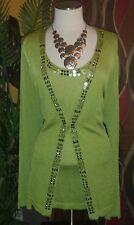 JONES NEW YORK 2X NWT $228 women's sweater cardigan jacket lemongrass green