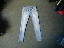 "Moto Skinny Jeans Waist 26"" Leg 30"" Faded Light Blue Ladies Jeans"