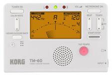 Korg TM60 Instrument Tuner Metronome White TM60WH