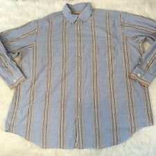 Robert Talbott Carmel Men's Shirt Size 2XB Long Sleeve Button Front Striped Cont