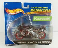 Hot Wheels 1:18 Motorcycle Die-cast Metal Kawasaki ninja ZX-9R