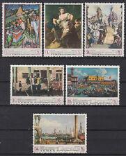 Yemen Kgr 1968 ** Mi.510/15 A UNESCO Venezianische Kunst Venetian Art Gemälde