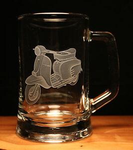Lambretta scooter motorcycle bike engraved glass pint tankard gift present