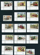 Isle of Man 1988 Railways complete UM/MNH