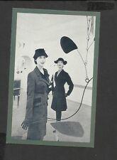 Nostalgia Postcard Vogue- Suit Red-Black Check Wool-Knee Length Jacket 1951