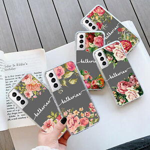 PERSONALISED FLOWER GEL Case Cover For Samsung S21 Plus Ultra 270