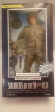 "SOLDIERS OF THE WORLD MINE DETECTOR OPERATOR WWII 12"" POSEABLE FIGURE"