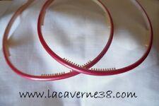 2 serres tête rose nacré acrylique avec picots accessoires cercle cheveux
