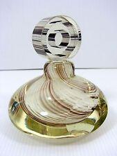 Luigi Onesto Oball Murano Sommerso Art Glass Perfume Bottle Beige