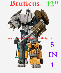 "New In Stock Deformabl Robot Bruticus HZX 5 In 1 Action Figure IDW KO 12"" Toys"