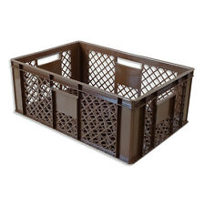 1 x Brotkiste Obst-/ Gemüsebox Lagerkiste Transportbox Gitterbox braun 23cm Höhe