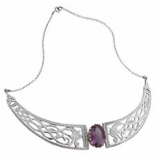 Silver Plated Stone Fashion Necklaces & Pendants