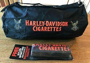 Vintage New Sealed HARLEY DAVIDSON CIGARETTES Nylon Duffel Bag NOS Motorcycles